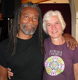 Joan with Bobby McFerrin